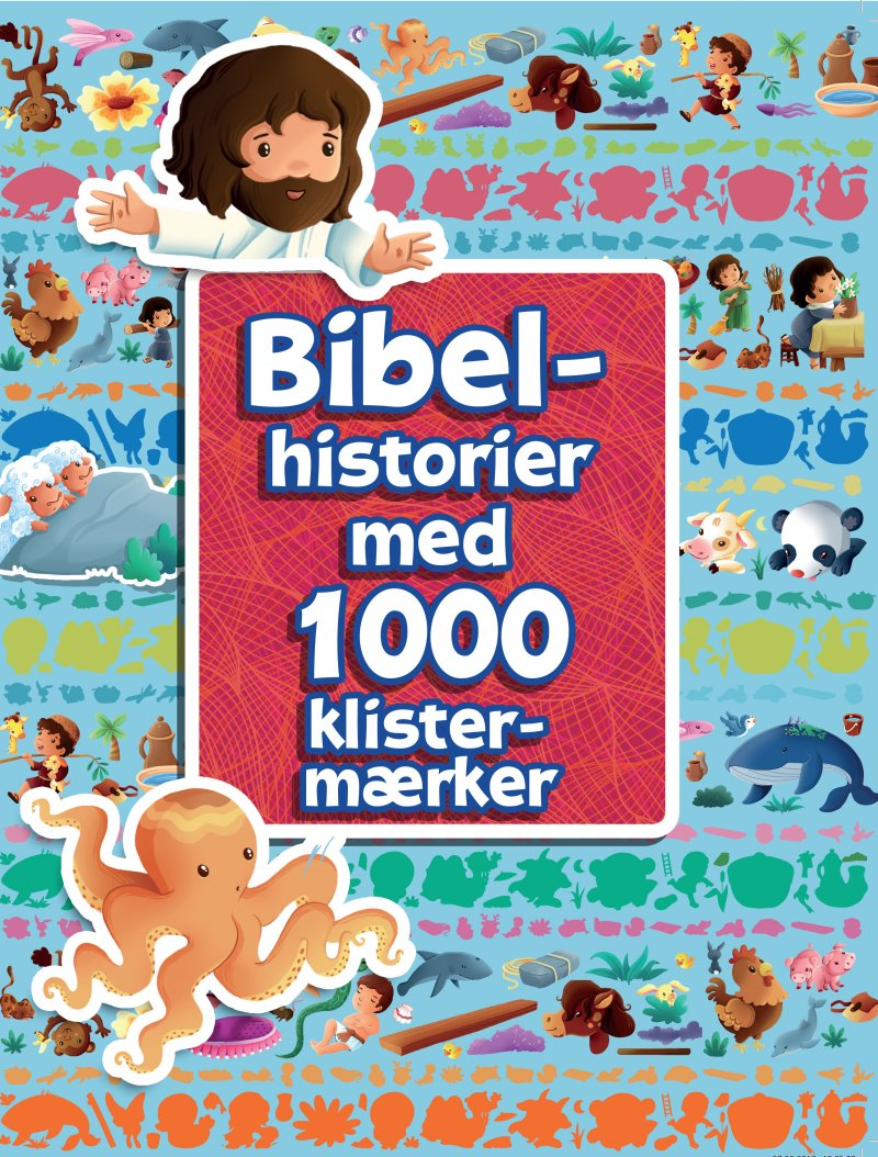 Bibelhistorier Med 1000 Klistermærker - Bog