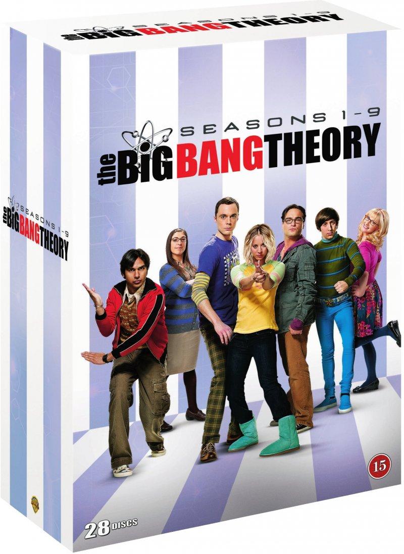 The Big Bang Theory - Sæson 1-9 - DVD - Tv-serie