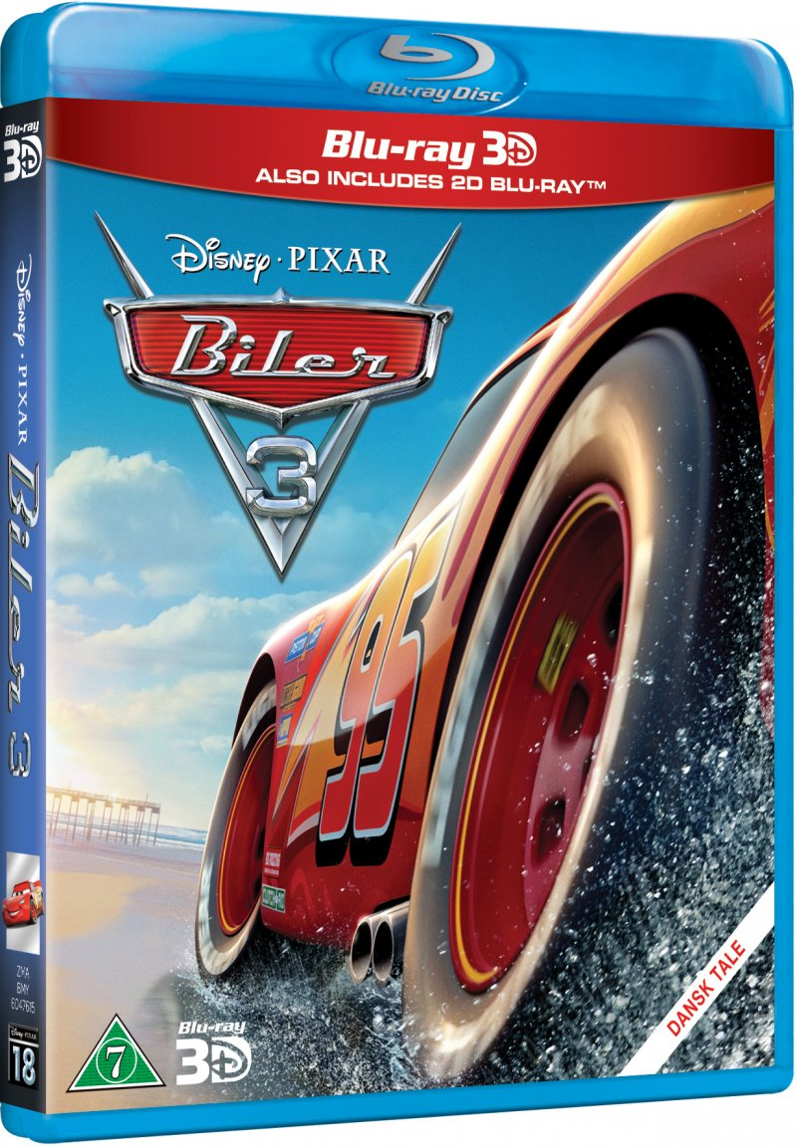 cars 3 biler 3 disney pixar 3d blu ray film k b billigt her. Black Bedroom Furniture Sets. Home Design Ideas