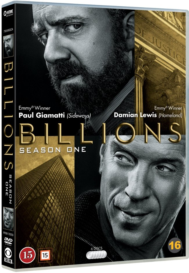 Image of   Billions - Sæson 1 - DVD - Tv-serie