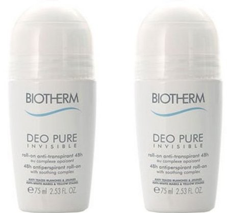 Image of   Biotherm Deodorant - Pure Invisible - Sæt á 2 Stk - 75 Ml