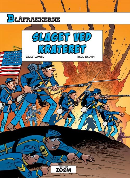Image of   Blåfrakkerne: Slaget Ved Krateret - Raoul Cauvin - Tegneserie