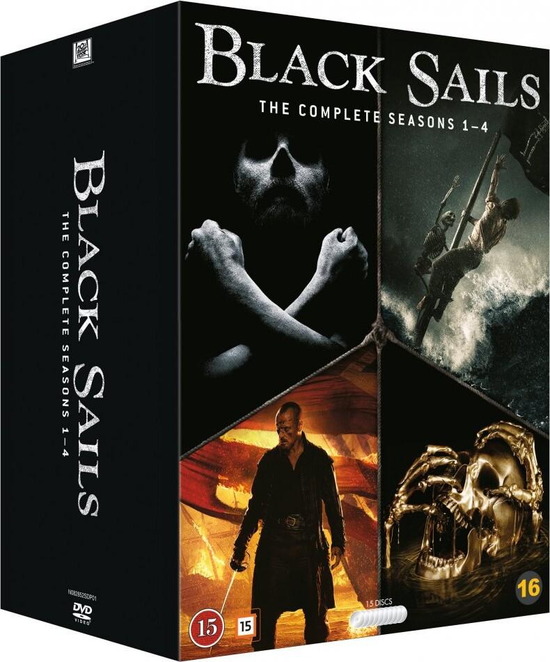 Image of   Black Sails - Sæson 1-4 - DVD - Tv-serie