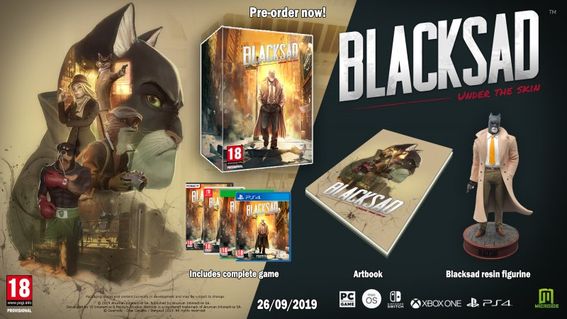 Image of   Blacksad - Under The Skin - Collector Edition - PS4