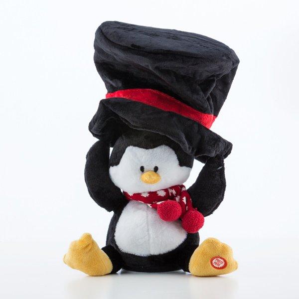 Blød Julebamse Med Lyd Og Bevægelse - Pingvin