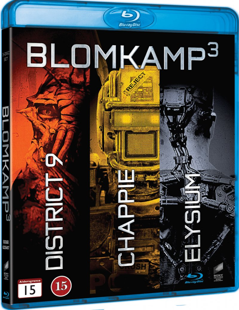 Image of   Elysium // District 9 // Chappie - Blu-Ray