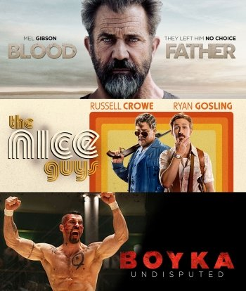 Image of   Blood Father // The Nice Guys // Boyka Undisputed - Blu-Ray