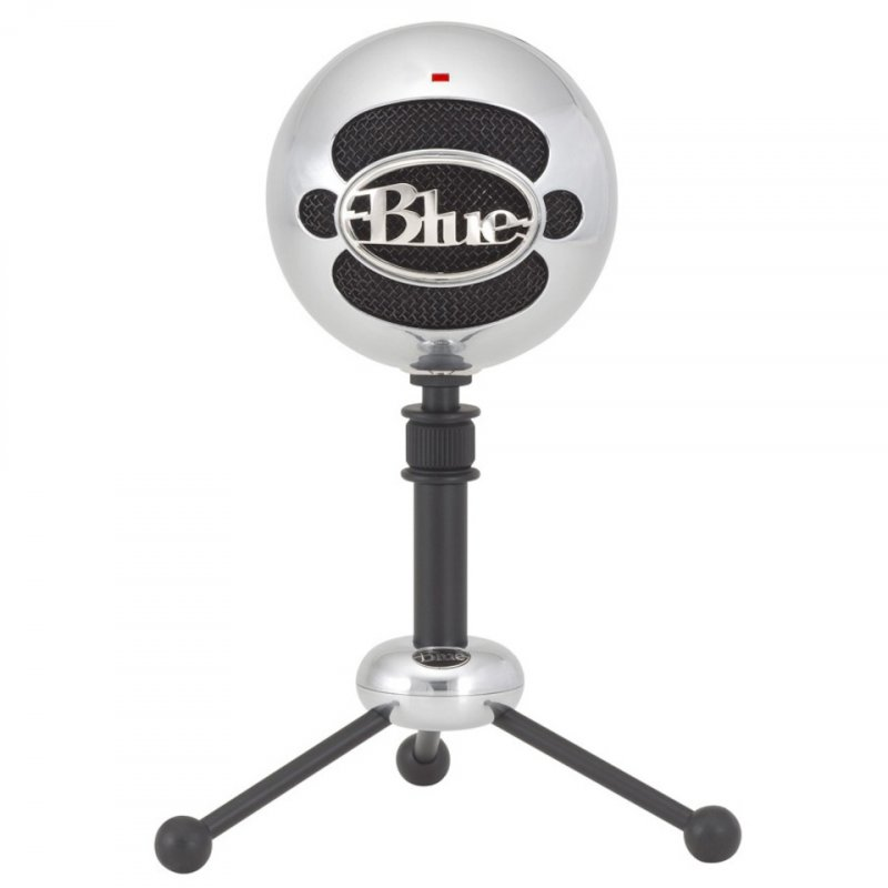 Blue Snowball Brushed Aluminium Mikrofon