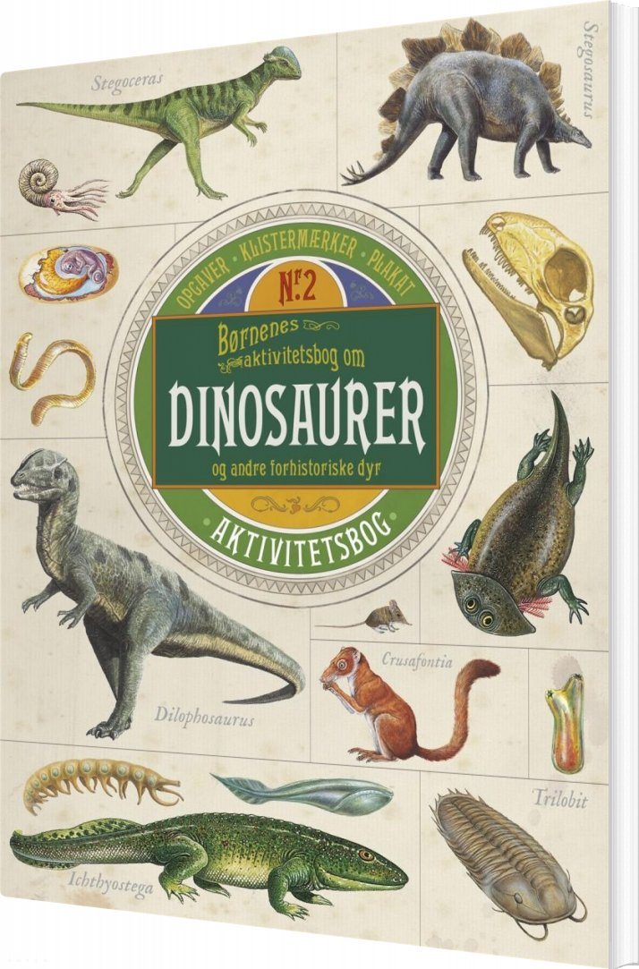 Image of   Børnenes Aktivitetsbog Om Dinosaurer Og Andre Forhistoriske Dyr - Diverse - Bog