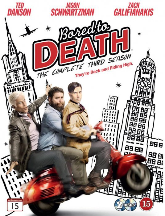 Image of   Bored To Death - Sæson 3 - DVD - Tv-serie
