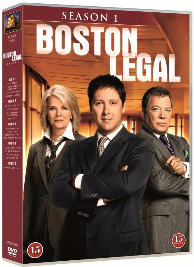 Image of   Boston Legal - Sæson 1 - DVD - Tv-serie