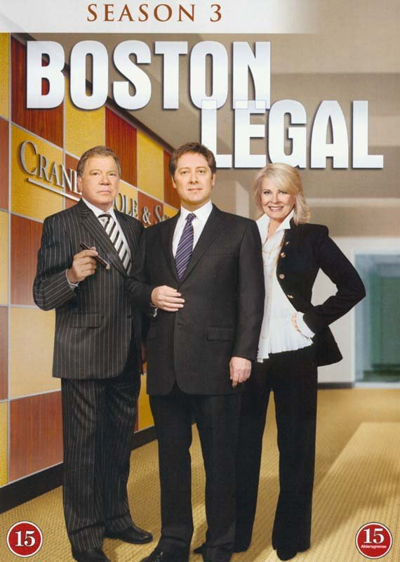 Image of   Boston Legal - Sæson 3 - DVD - Tv-serie