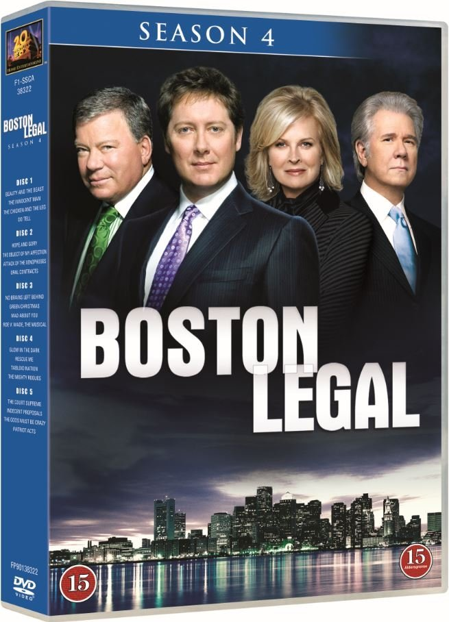 Image of   Boston Legal - Sæson 4 - DVD - Tv-serie