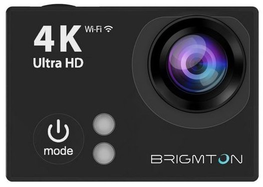 Image of   Brigmton - Action Kamera Sæt - 4k - Wifi - 30 M Vandtæt - Bsc-9hd4k - Sort