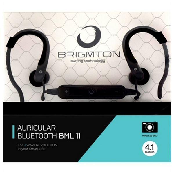 Image of   Brigmton Auricular Bluetooth Bml 11 Hovedtelefoner Med Mikrofon - Sort