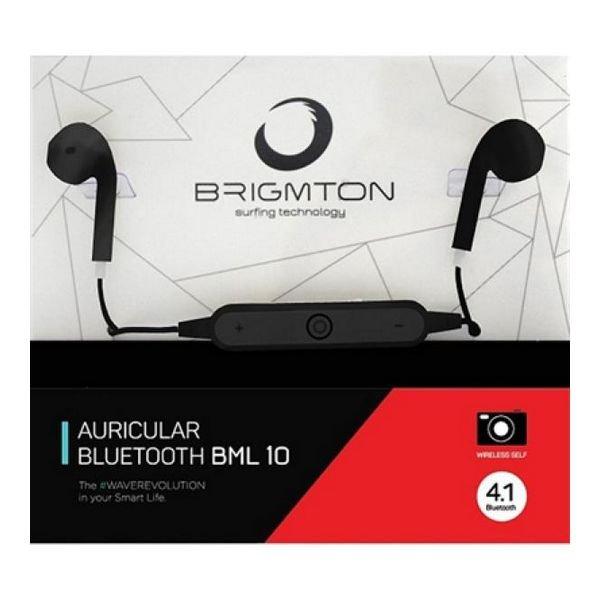Image of   Brigmton Auricular Bml-10 Bluetooth Sports Høretelefoner Med Mikrofon - Sort