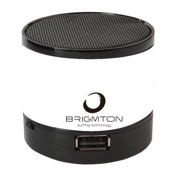 Image of   Brigmton Bamp-703 - Trådløs Bluetooth Højtaler Med Fm Radio 3w - Hvid
