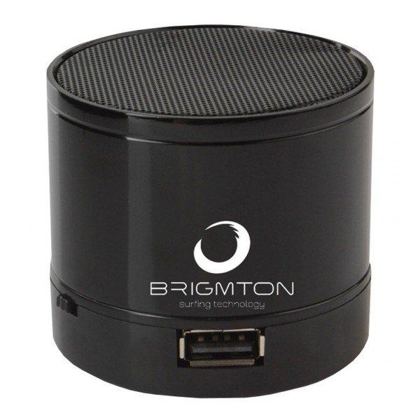 Image of   Brigmton Bamp-703 - Trådløs Bluetooth Højtaler Med Fm Radio 3w - Sort