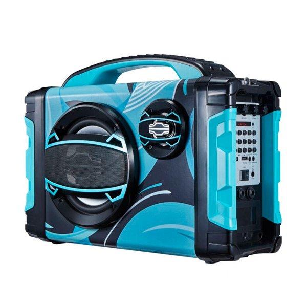Image of   Brigmton Bbox-2 - Bluetooth Boombox Højtaler Med Fm Radio 25w - Blå
