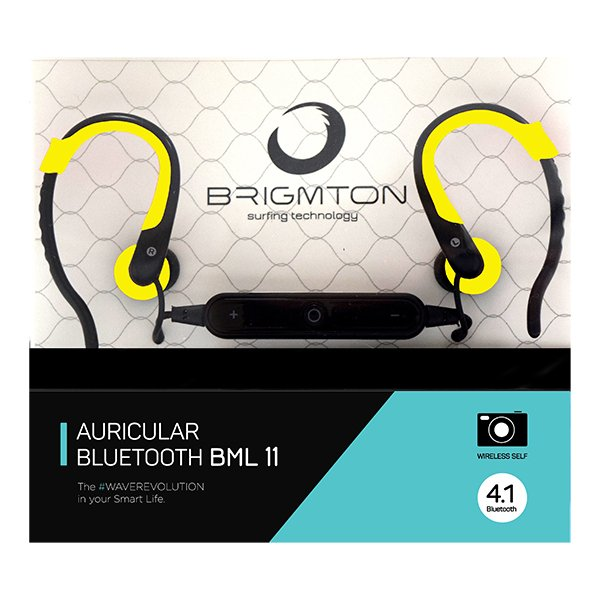 Image of   Brigmton Bml-11 - In-ear Bluetooth Sports Høretelefoner Med Mikrofon - Gul