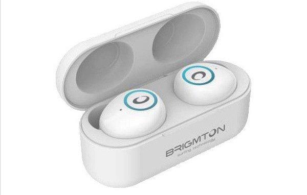 Image of   Brigmton Bml-16 - Trådløs In-ear Bluetooth Høretelefoner Med Mikrofon - Hvid
