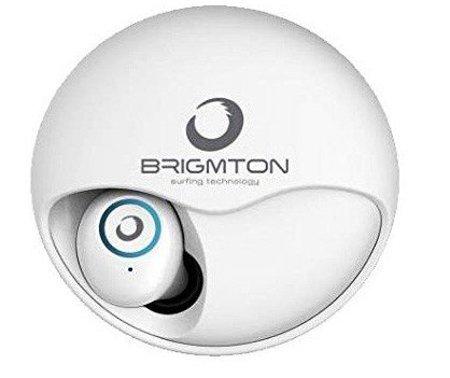 Image of   Brigmton Bml-17 - Trådløs In-ear Bluetooth Høretelefoner Med Mikrofon - Hvid
