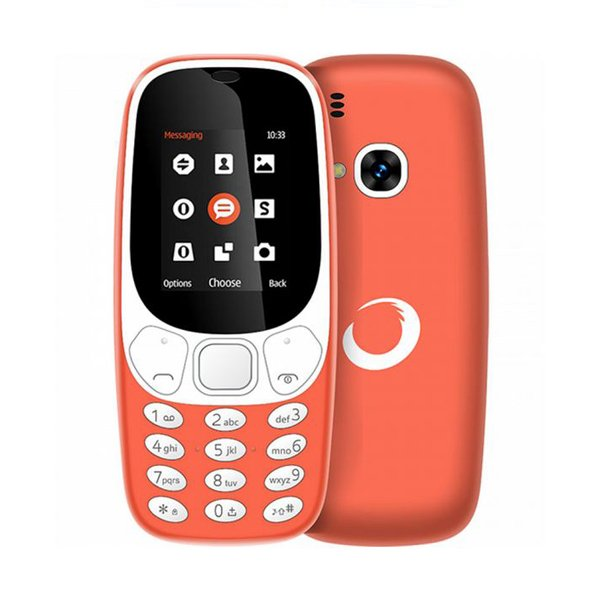 "Image of   Brigmton Bmt4 Mobiltelefon - 1,7"" Display - Dual Sim - Orange"