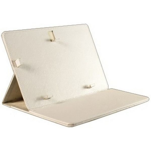 "Image of   Brigmton - Universel Tablet Cover Og Holder - 7"" - Læder - Hvid"