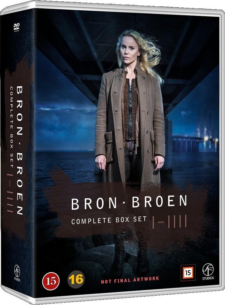 Image of   Broen - Sæson 1-4 - DVD - Tv-serie