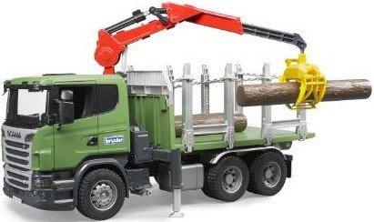 Image of   Bruder Scania Lastbil Med Kran