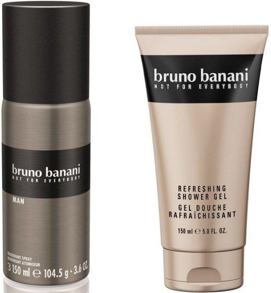 Image of   Bruno Banani Gavesæt - Man Deo Spray 150 Ml. Og Shower Gel 150 Ml.