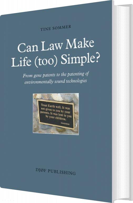 Billede af Can Law Make Life (too) Simple? - Tine Sommer - Bog
