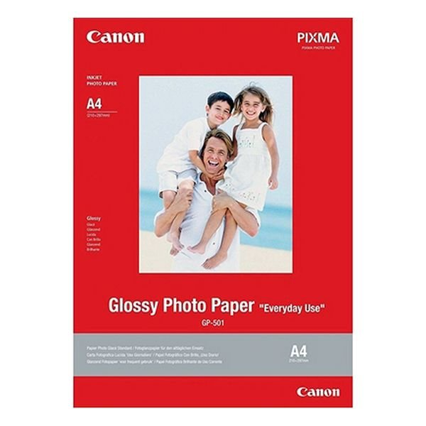 Image of   Canon - Glossy Fotopapir Til Maxify Og Pixma Serier - A4 - Gp-501 - 20 Ark