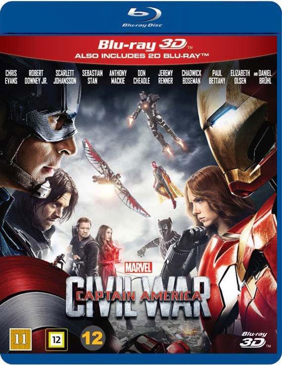 Image of   Captain America 3 - Civil War - 3D Blu-Ray