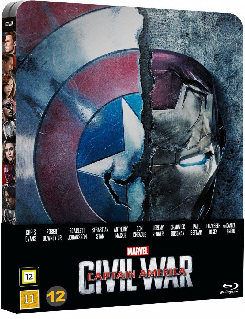 Image of   Captain America 3 - Civil War - Steelbook - Blu-Ray