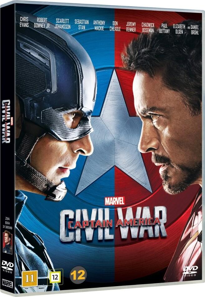 Image of   Captain America 3 - Civil War - DVD - Film
