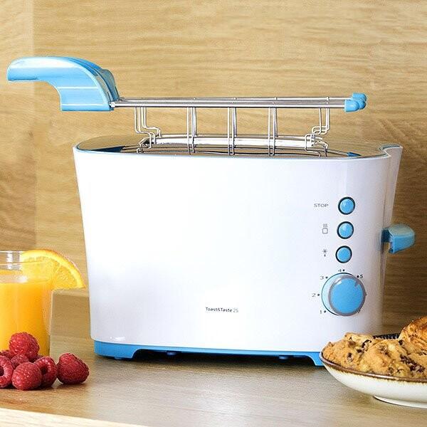 Image of   Cecomix Brødrister - Toast&taste 2s 850w - Hvid
