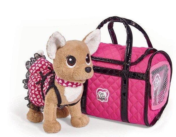 Billede af Chi Chi Love - Chihuahua Hunde Bamse Med Tøj Og Taske - Pink