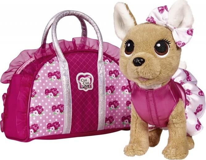 Billede af Chi Chi Love - Chihuahua Hunde Bamse Med Taske - Rose Fashion - Pink