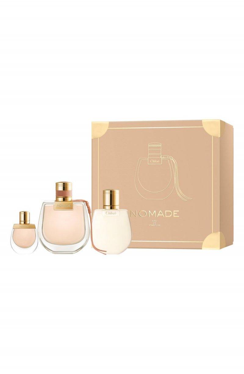 Image of   Chloé Parfume - Nomade Edp 75 Ml + Body Lotion 100 Ml + Mini Edp 5 Ml - Gavesæt