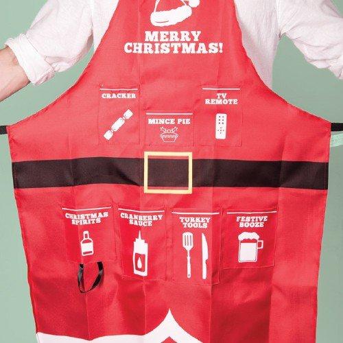 Image of   Rødt Jule Forklæde