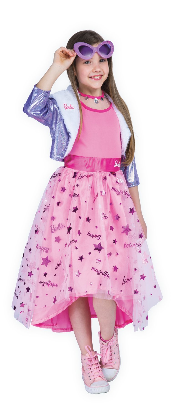 Barbie Kjole Udklædning – Prinsesse – 5-7 år