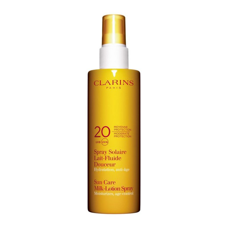 Image of   Clarins Solcreme - Sun Body Lotion Spray Spf 20 - 150 Ml