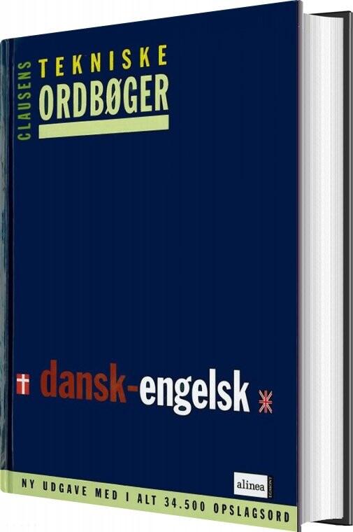 Clausens Tekniske Ordbøger, Dansk-engelsk - Diverse - Bog