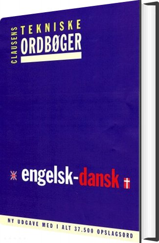 Clausens Tekniske Ordbøger, Engelsk-dansk - Diverse - Bog