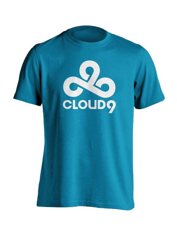 Image of   Cloud9 T-shirt / Esport Trøjer I Blå - 2xl