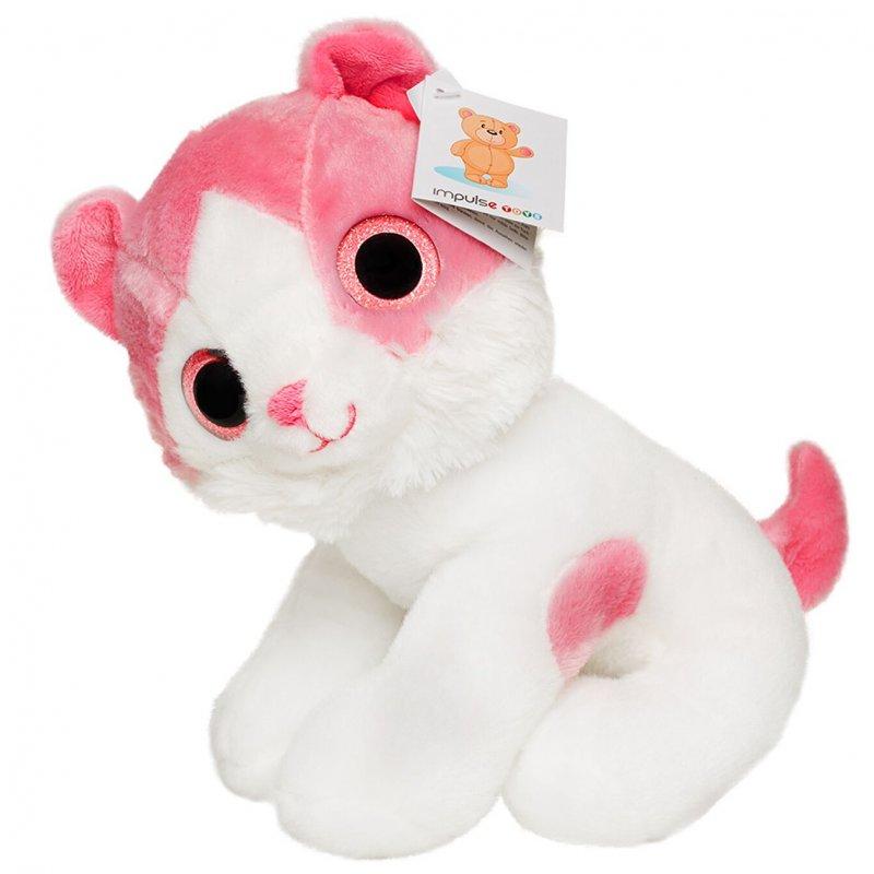 Katte Bamse - Pink 25 Cm