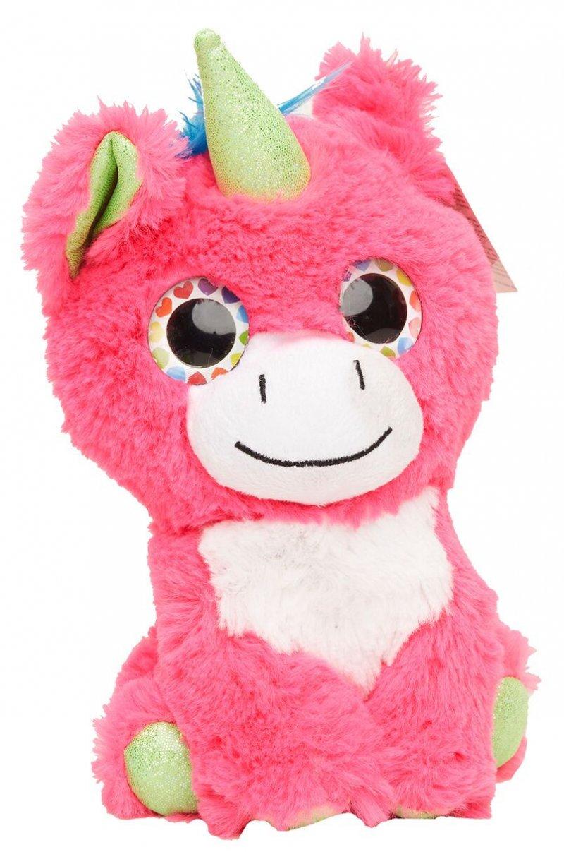 Color Plush - Enhjørning Bamse I Pink - 20 Cm.