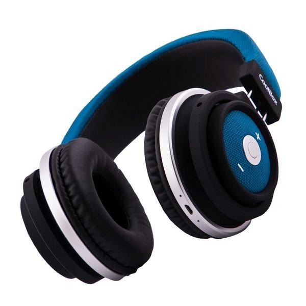 Billede af Coolbox Coo-aub-10bl - Trådløs Over-ear Bluetooth Høretelefoner - Blå