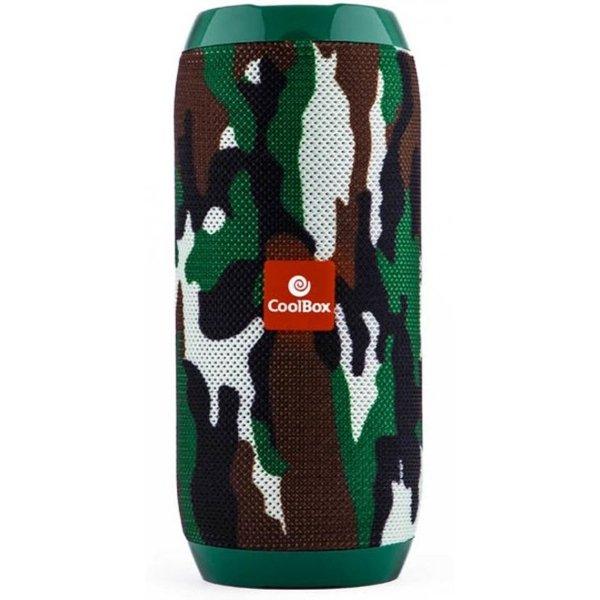 Image of   Coolbox Cooljazz - Trådløs Bluetooth Højttaler Med Fm Radio 10w 1200 Mah - Camouflage
